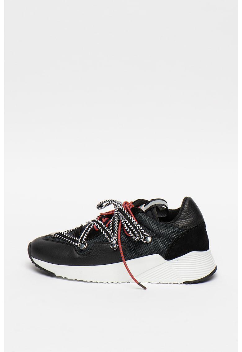 Pantofi sport cu insertii din piele intoarsa Bump Tech