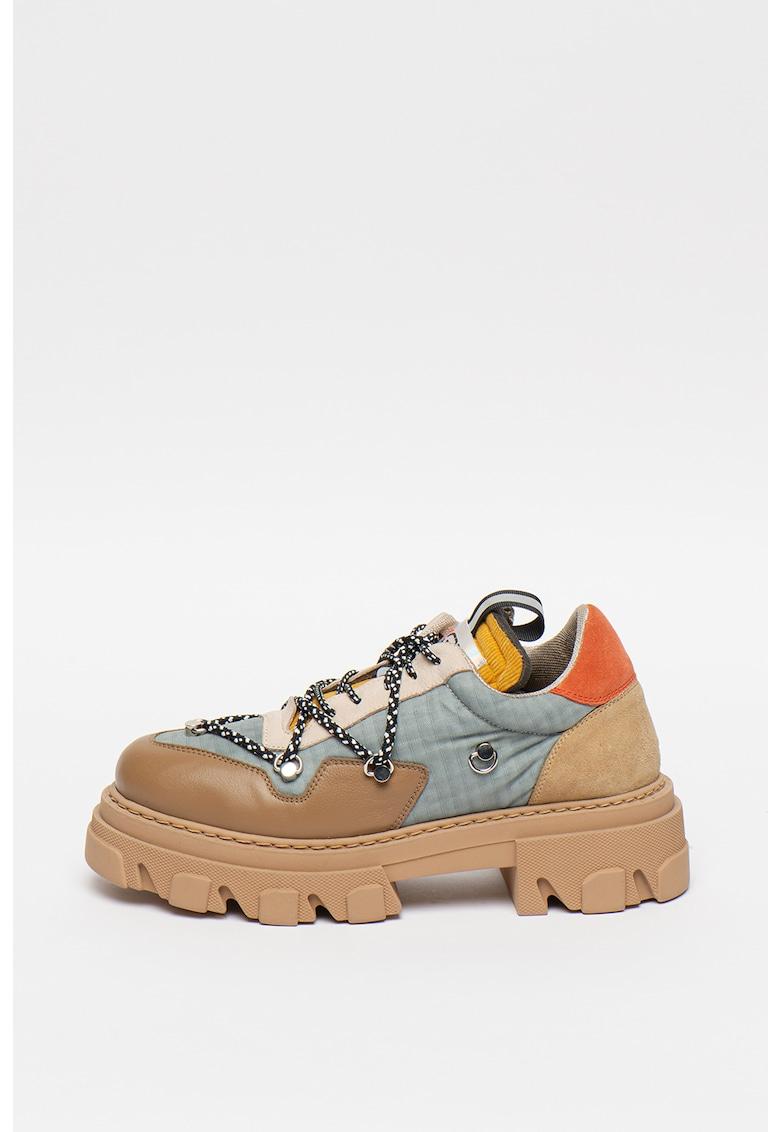 Pantofi cu detalii din piele Guns Massive Sole
