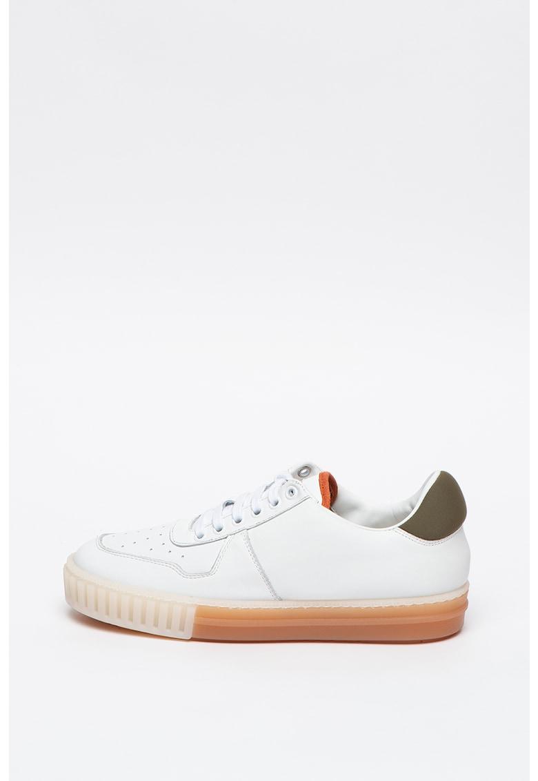 Pantofi sport de piele cu insertii de material textil Ray Super