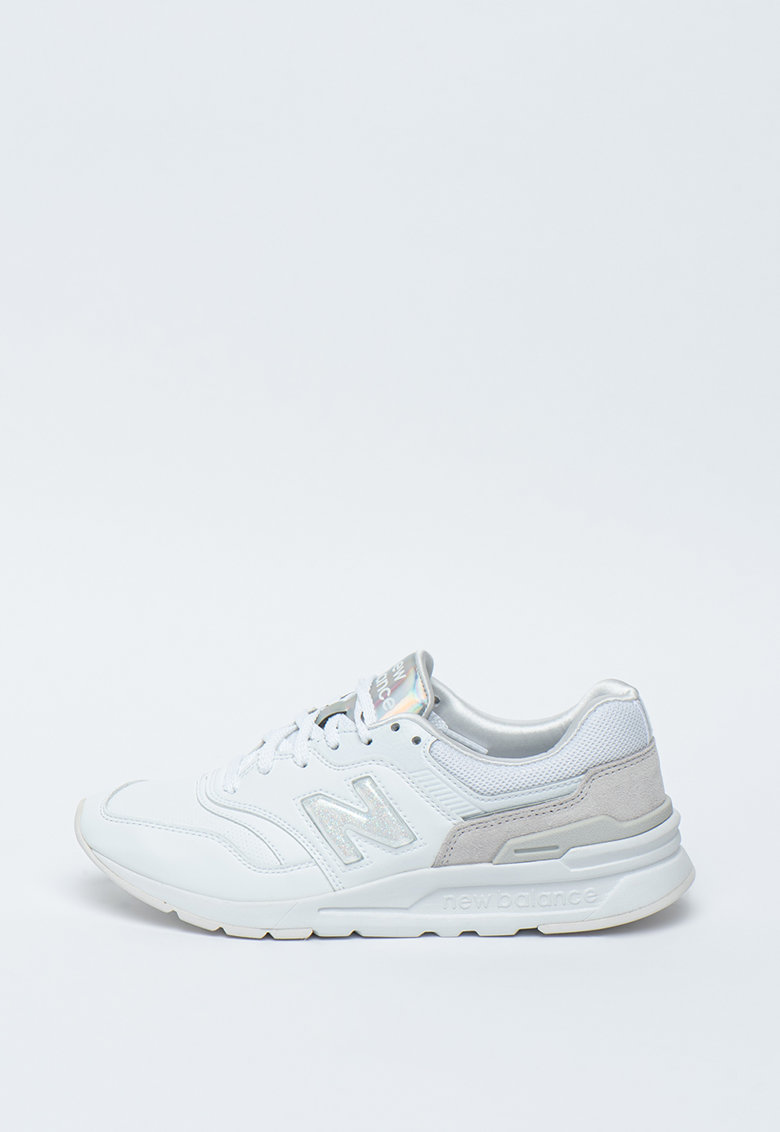 Pantofi sport de piele cu insertii textile 997