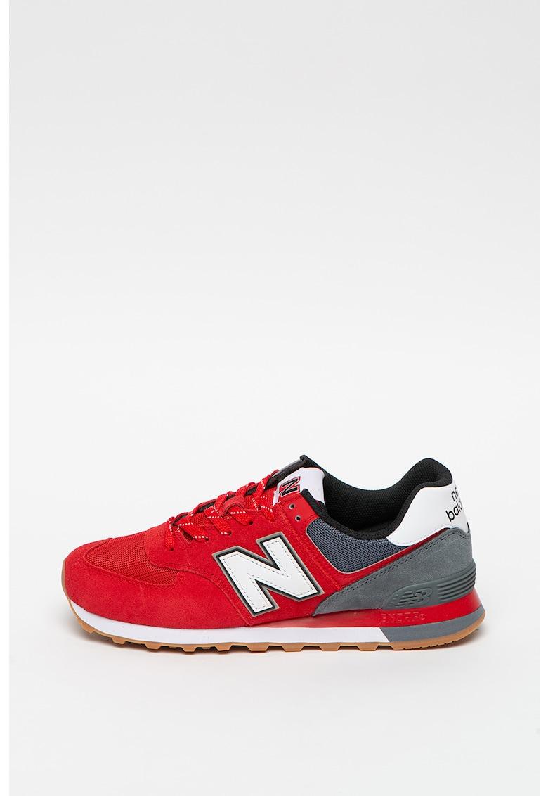 Pantofi sport colorblock si garnituri de piele intoarsa 574 imagine