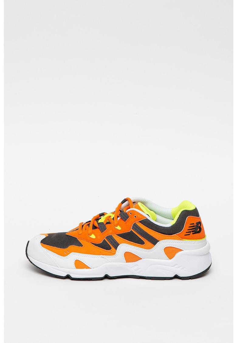 Pantofi sport colorblock cu garnituri de piele si piele intoarsa 850 imagine