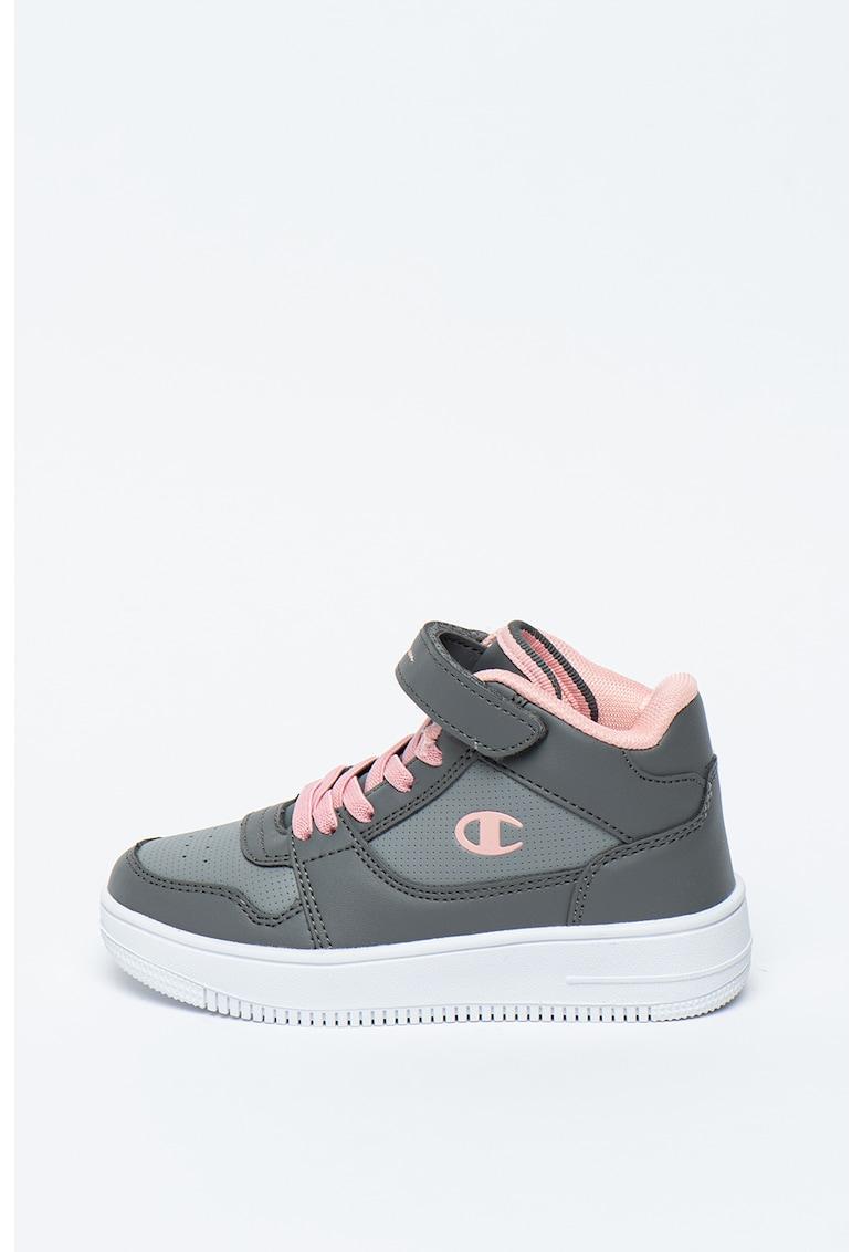 Pantofi sport mid-high de piele ecologica cu velcro Rebound imagine promotie