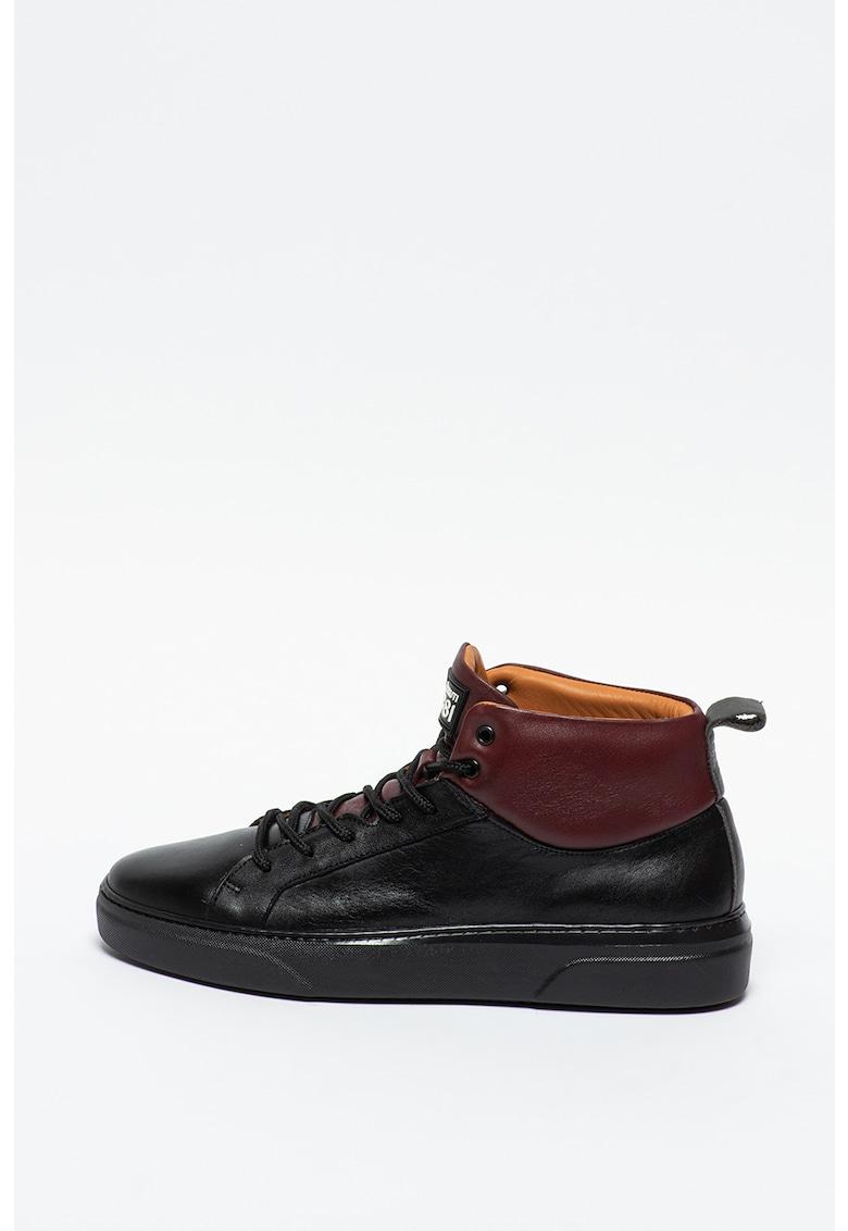 Pantofi sport mid-high de piele