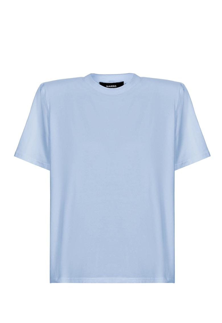 Tricou cu decolteu la baza gatului si spate decupat
