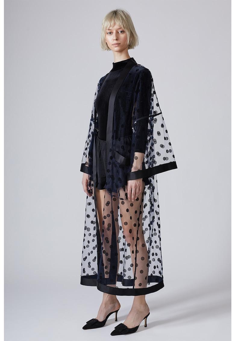 Kimono de plasa - fara inchidere si cu buline