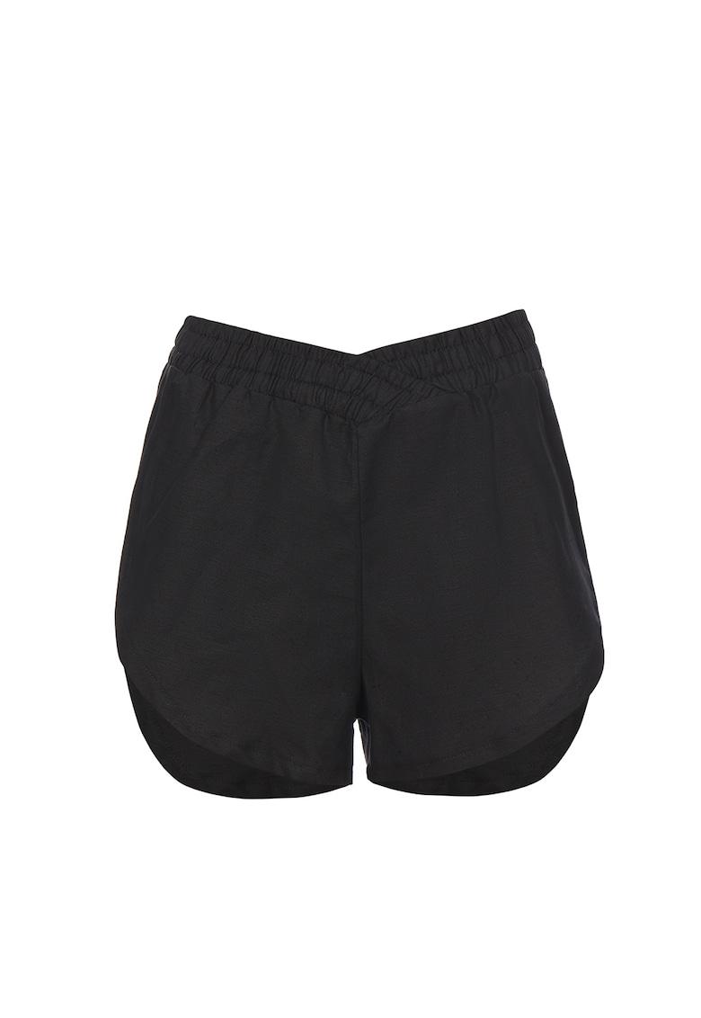 Pantaloni scurti de in cu terminatie rotunjita