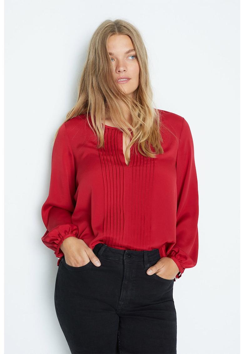 Bluza cu segment plisat Macro
