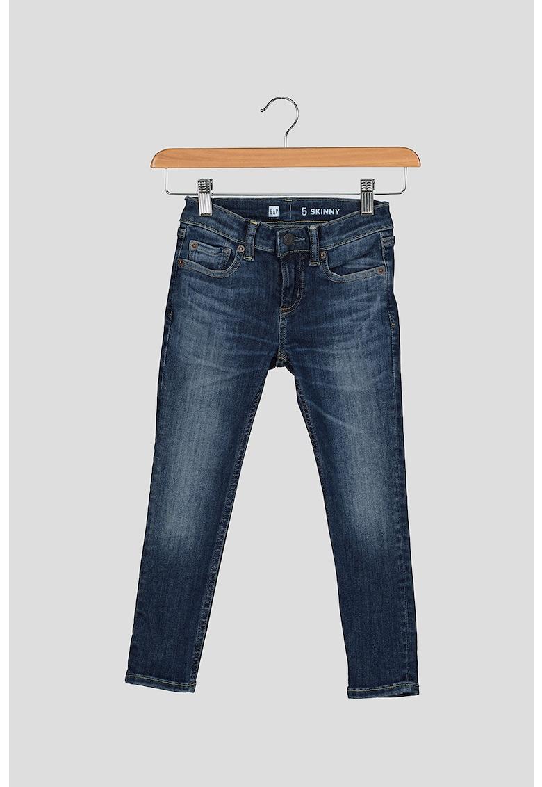 Blugi skinny cu aspect decolorat imagine fashiondays.ro