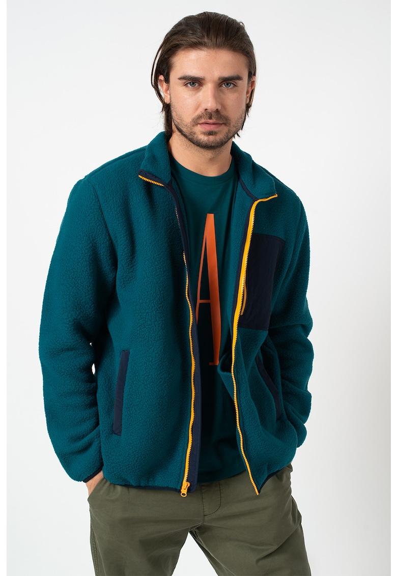 Jacheta din fleece cu fermoar
