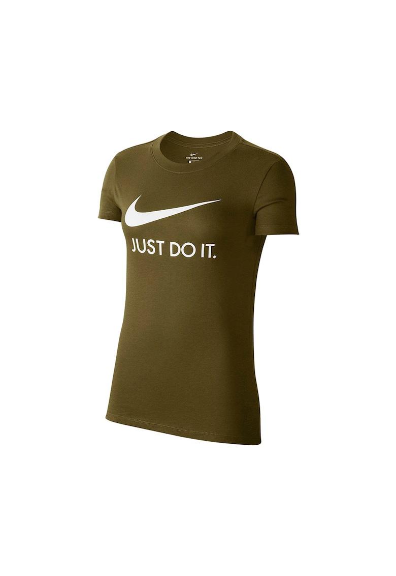 Tricou slim fit cu imprimeu logo imagine