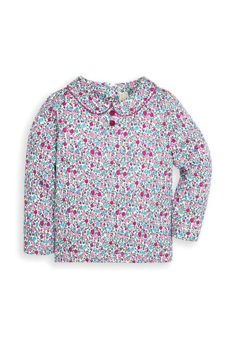 Bluza cu guler Peter Pan si imprimeu floral