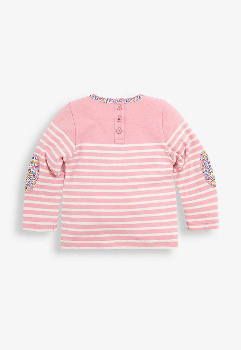 Bluza cu model in dungi si detalii brodate