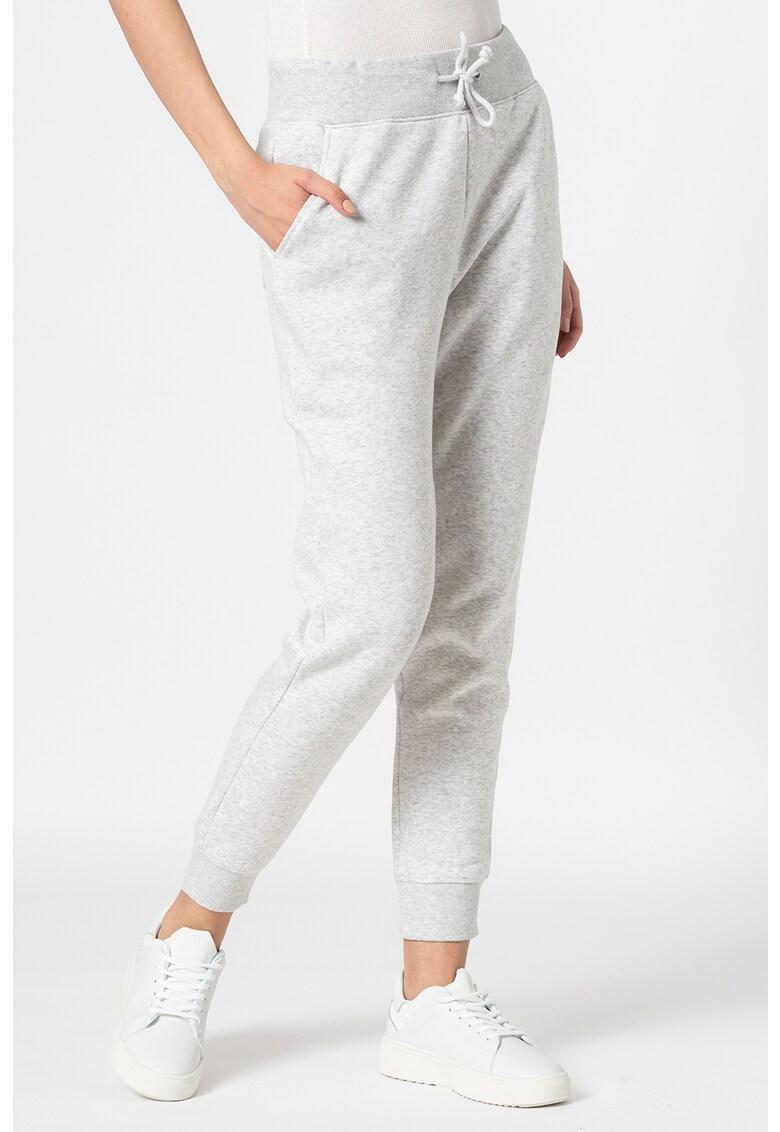 Pantaloni sport slim fit din amestec de bumbac organic