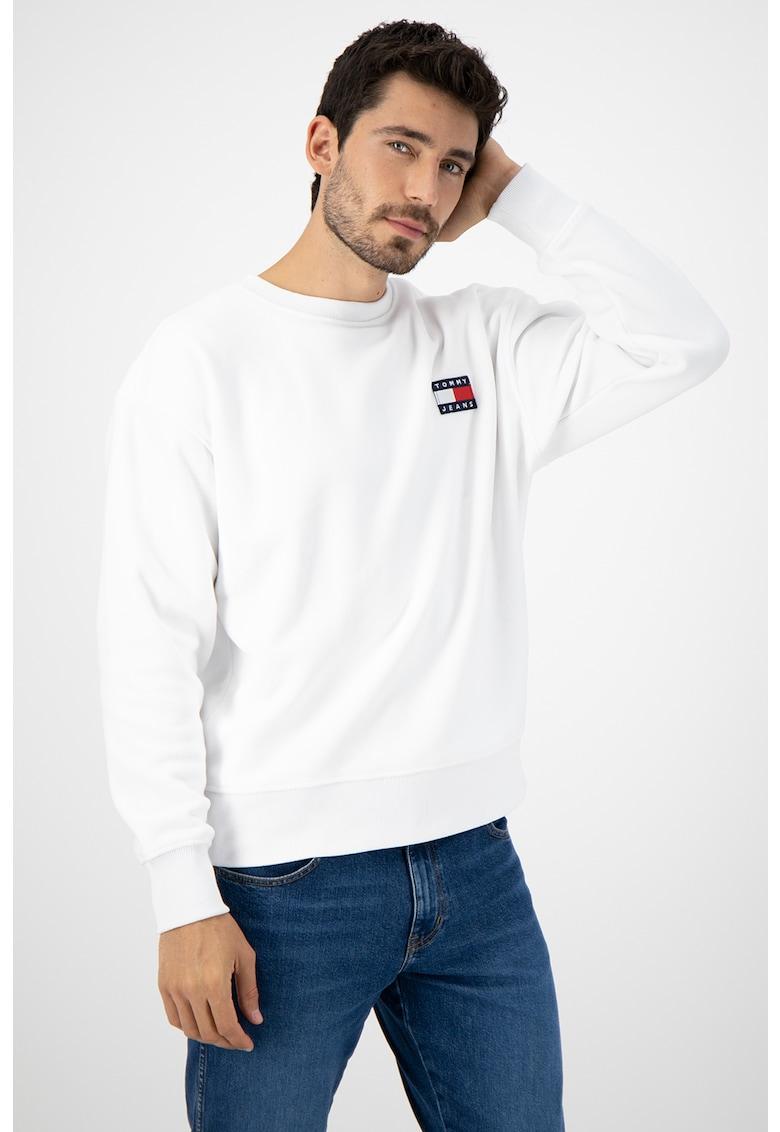 Bluza sport din material fleece cu logo brodat imagine