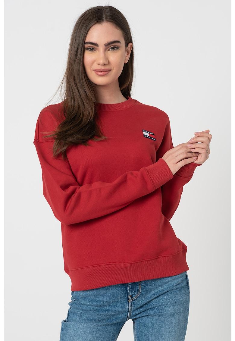 Bluza sport de bumbac organic cu insigna logo de la Tommy Jeans
