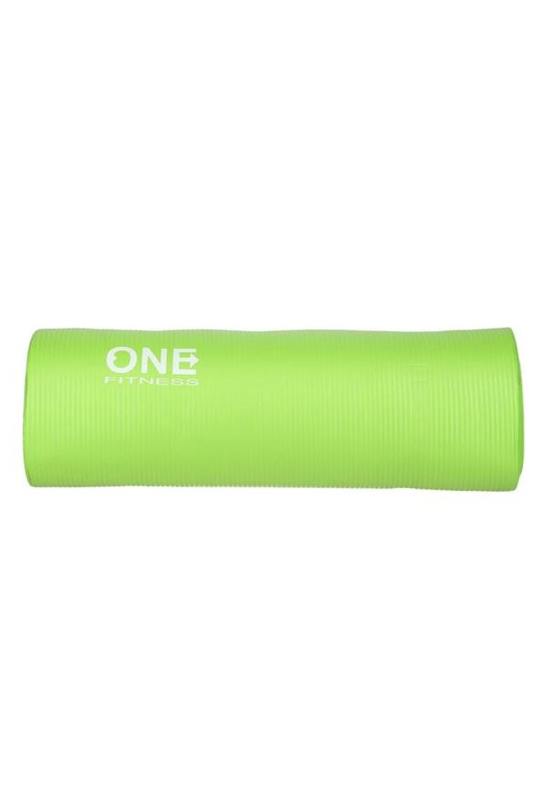 Saltea fitness/yoga/pilates YM40 - 183x61x1.5 cm - NBR - verde