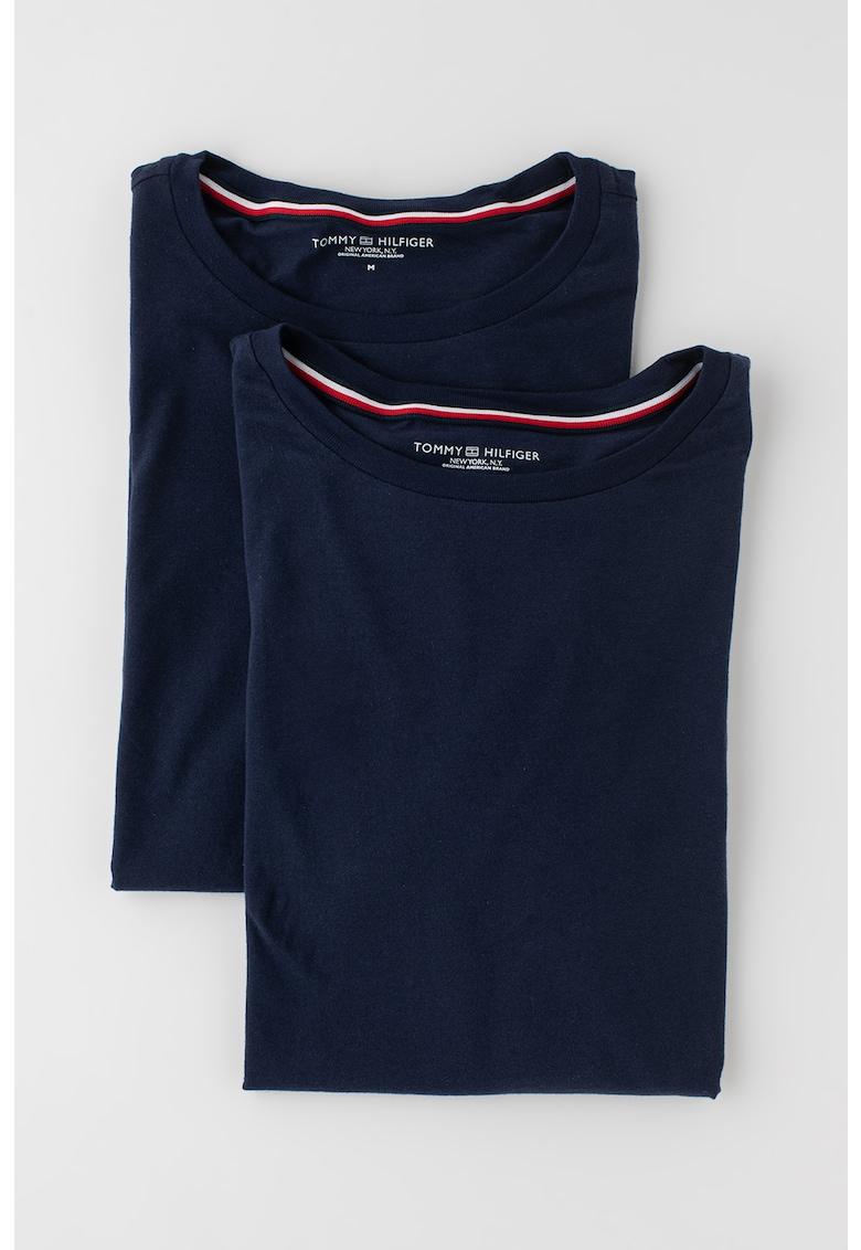 Set de tricouri de casa - de bumbac - cu decolteu la baza gatului - 2 piese