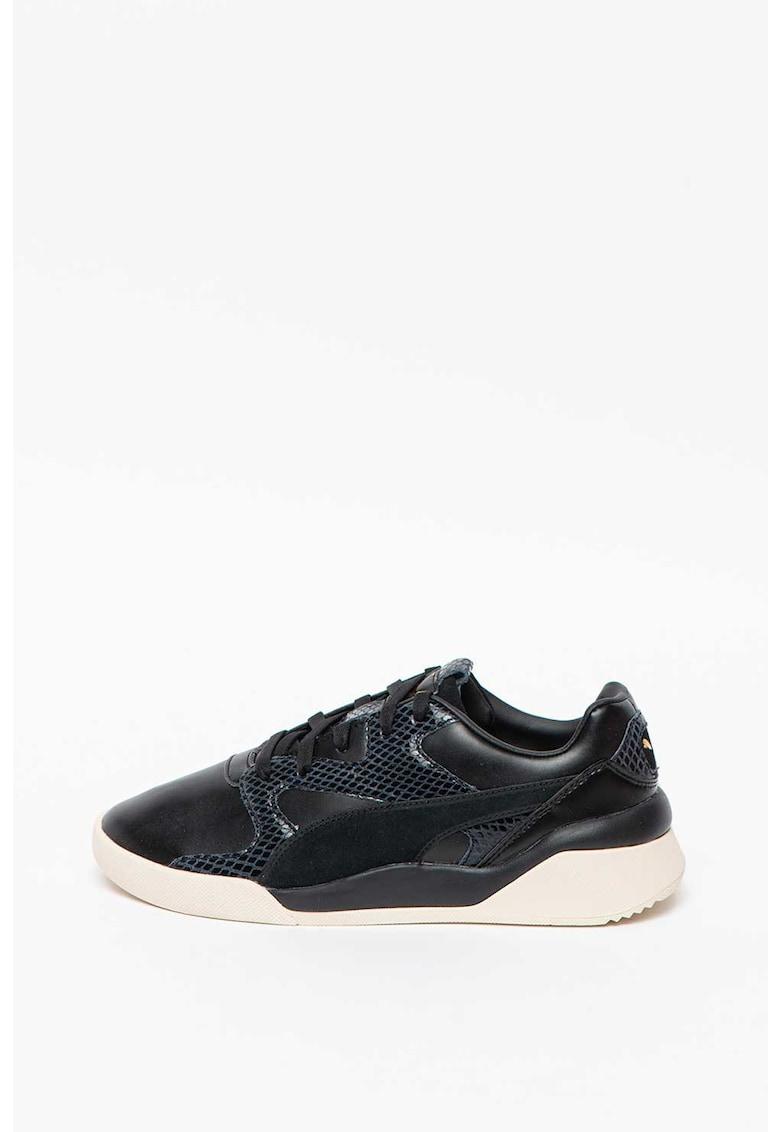 Pantofi sport de piele ecologica cu detalii cu aspect de piele de sarpe Aeon Play