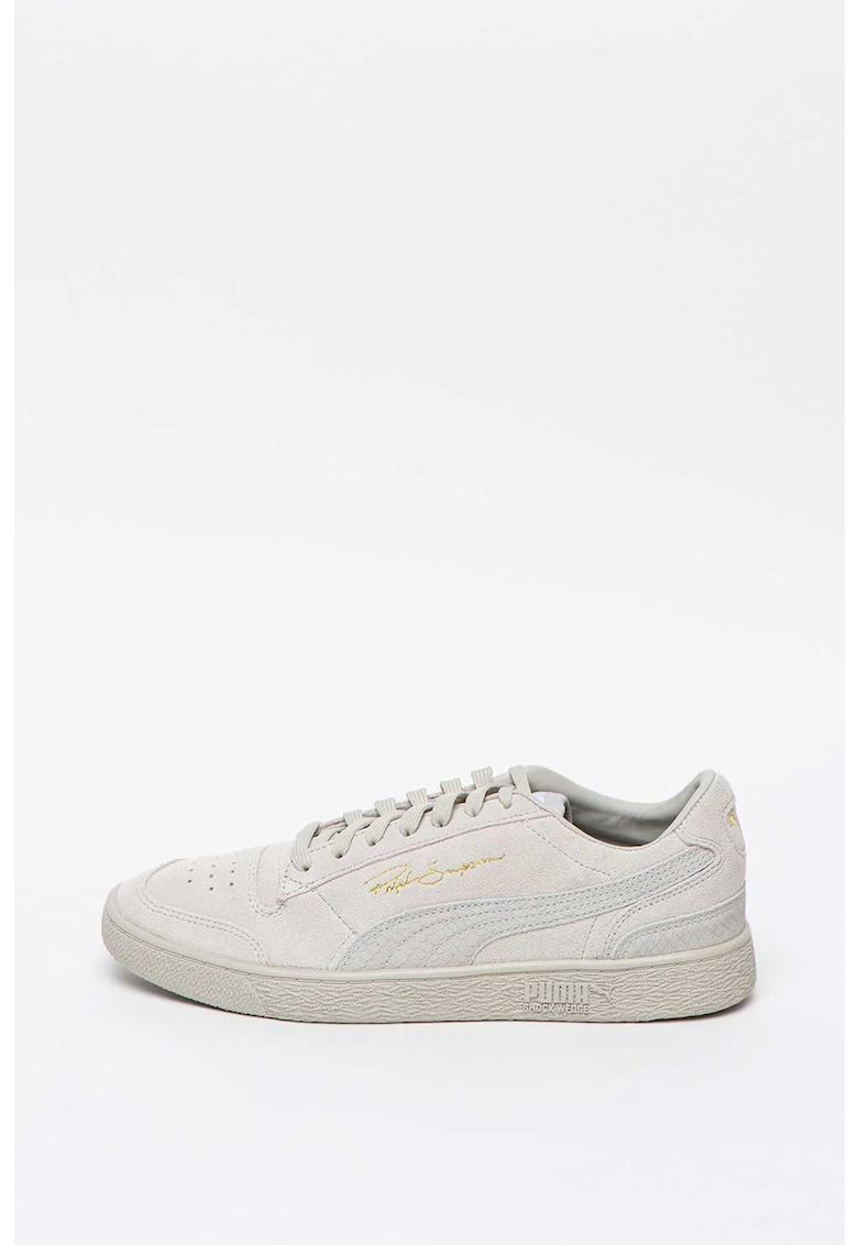 Pantofi sport de piele intoarsa cu garnituri cu aspect de piele de crocodil Ralph Sampson
