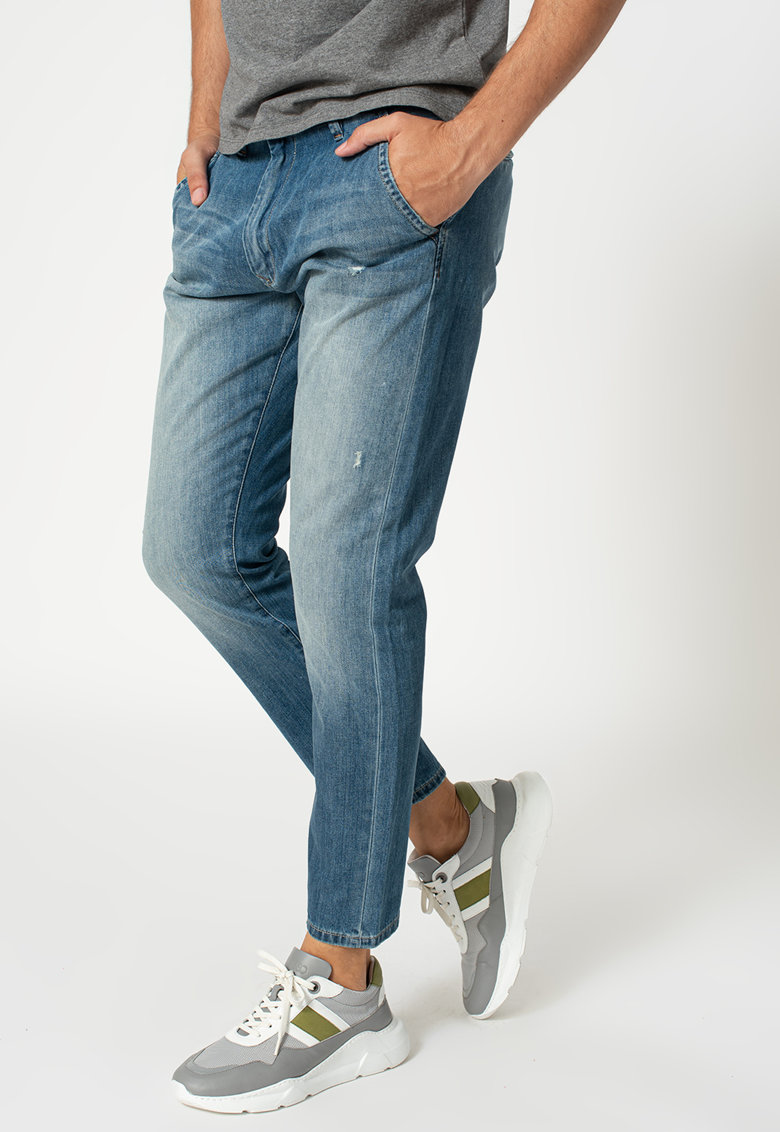 Pantaloni chino crop de denim Callen imagine
