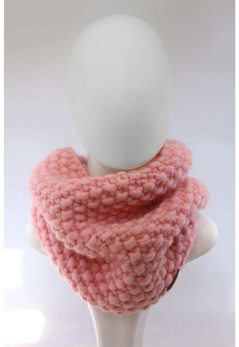 Fular circular de lana merino - tricotat gros Good Times imagine