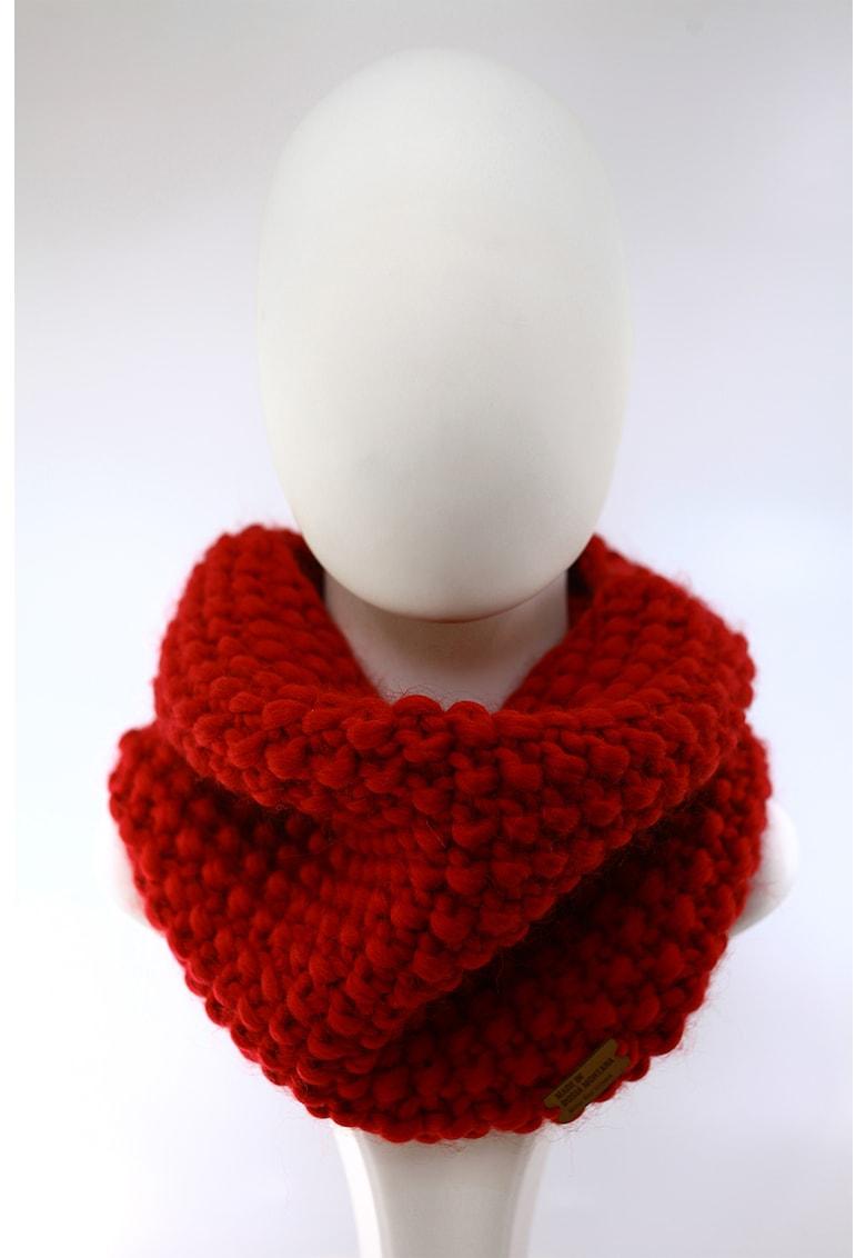 Fular circular de lana merino - tricotat gros Good Times de la Made in Rosia Montana