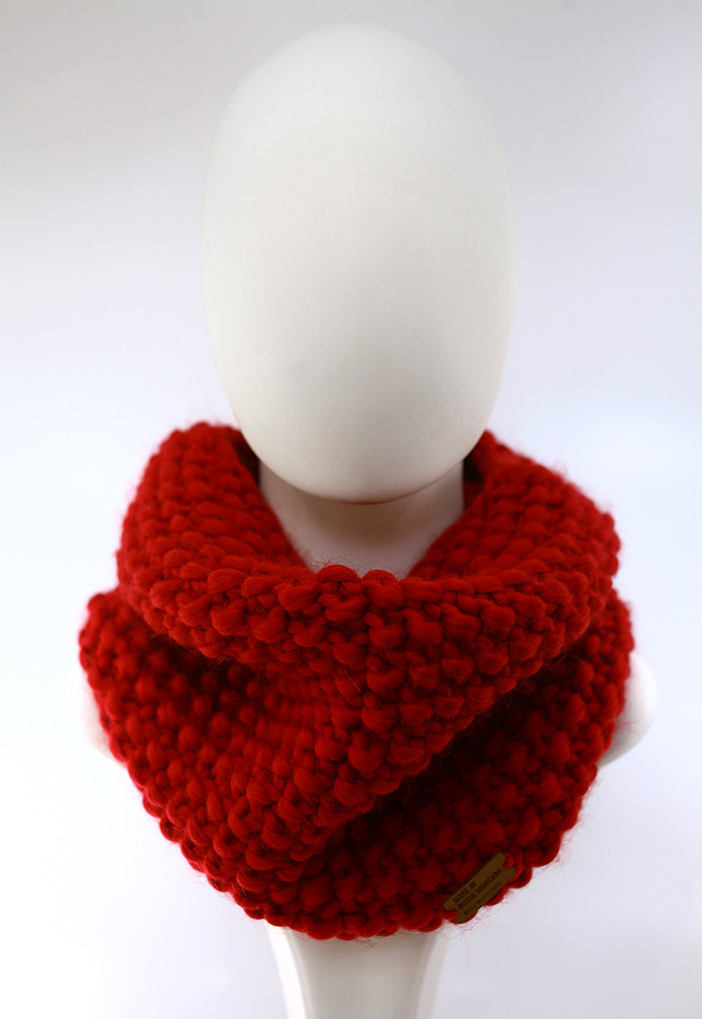 Fular circular de lana merino - tricotat gros Good Times poza fashiondays