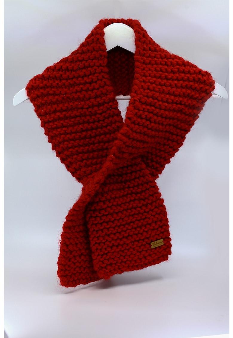 Fular de lana merino - tricotat gros Be Kind imagine fashiondays.ro