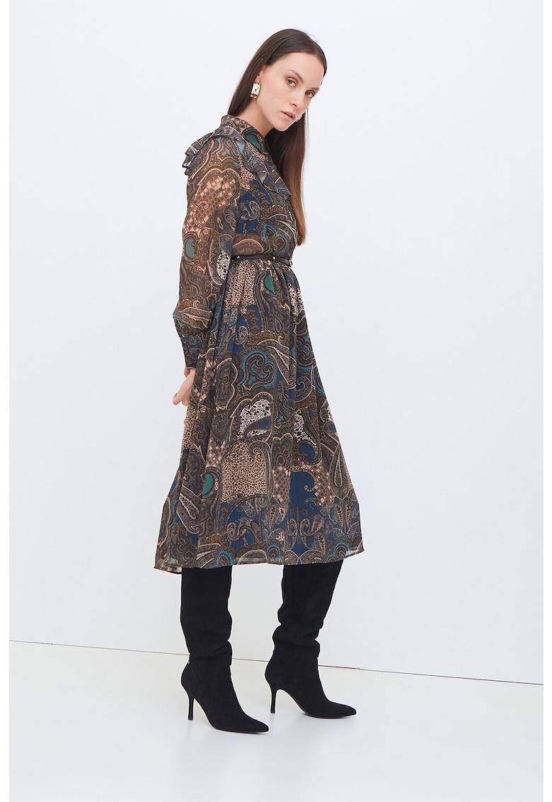 Rochie tip camasa cu model paisley
