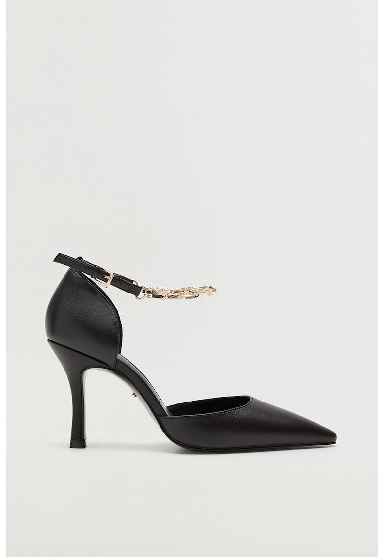 Pantofi de piele cu varf ascutit Celia