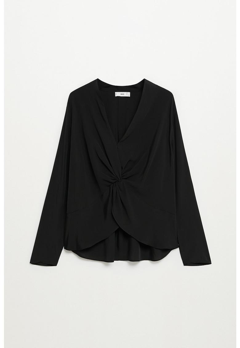 Bluza asimetrica din amestec de modal Drap