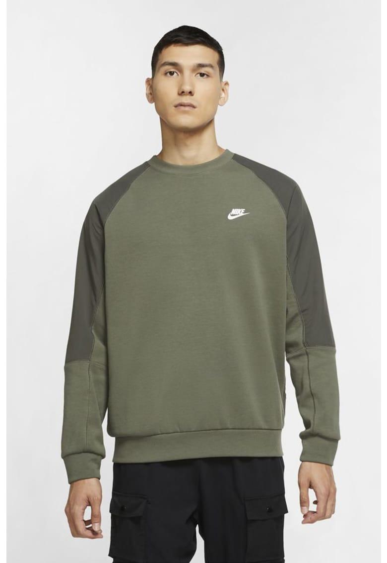 Bluza sport cu decolteu la baza gatului si maneci raglan Sportswear imagine