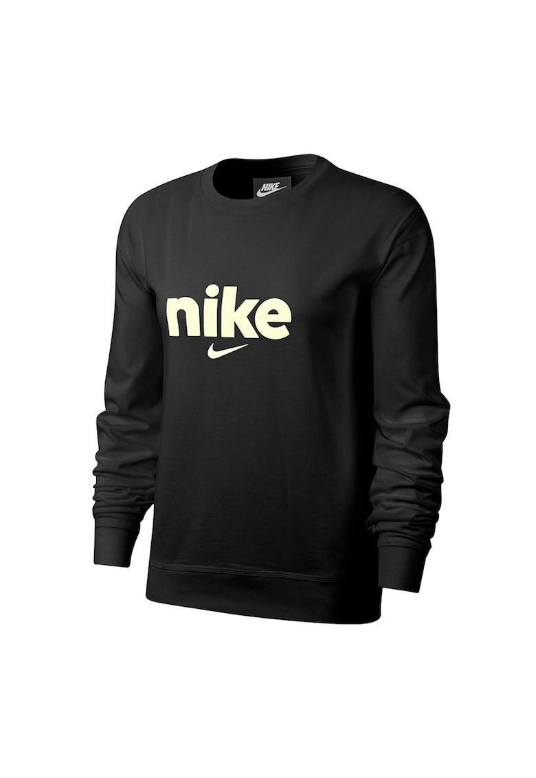 Bluza sport din bumbac cu logo Hybrid imagine