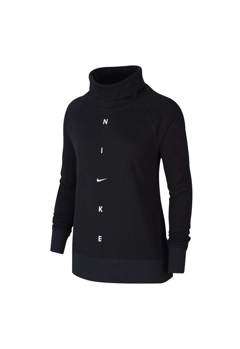 Bluza sport cu maneci raglan - decolteu drapat si tehnologie Dri-Fit - pentru fitness imagine fashiondays.ro Nike