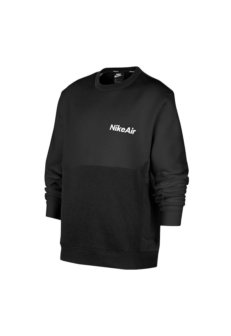 Bluza sport cu decolteu la baza gatului si logo Air imagine