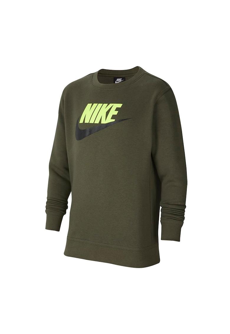 Bluza sport cu decolteu la baza gatului si imprimeu logo imagine