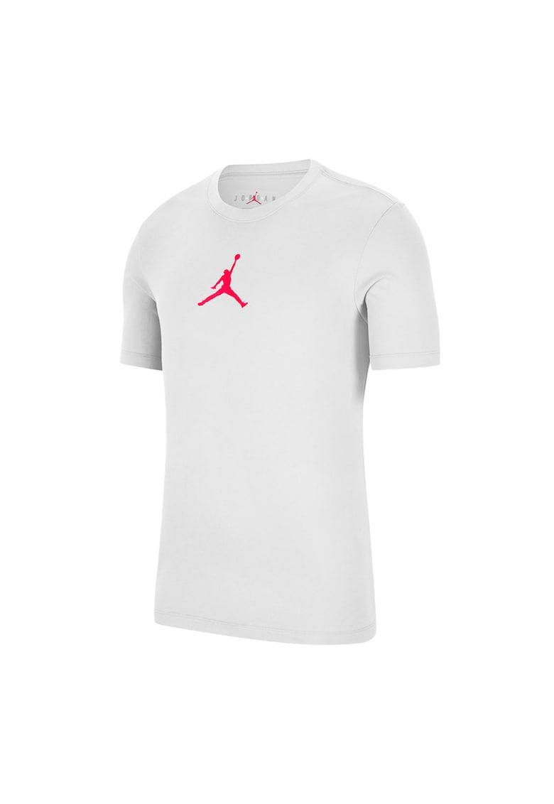 Tricou cu decolteu la baza gatului si detaliu logo Jordan Jumpman imagine