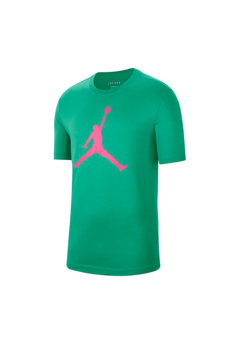 Tricou de bumbac cu imprimeu logo Jumpman Fill imagine