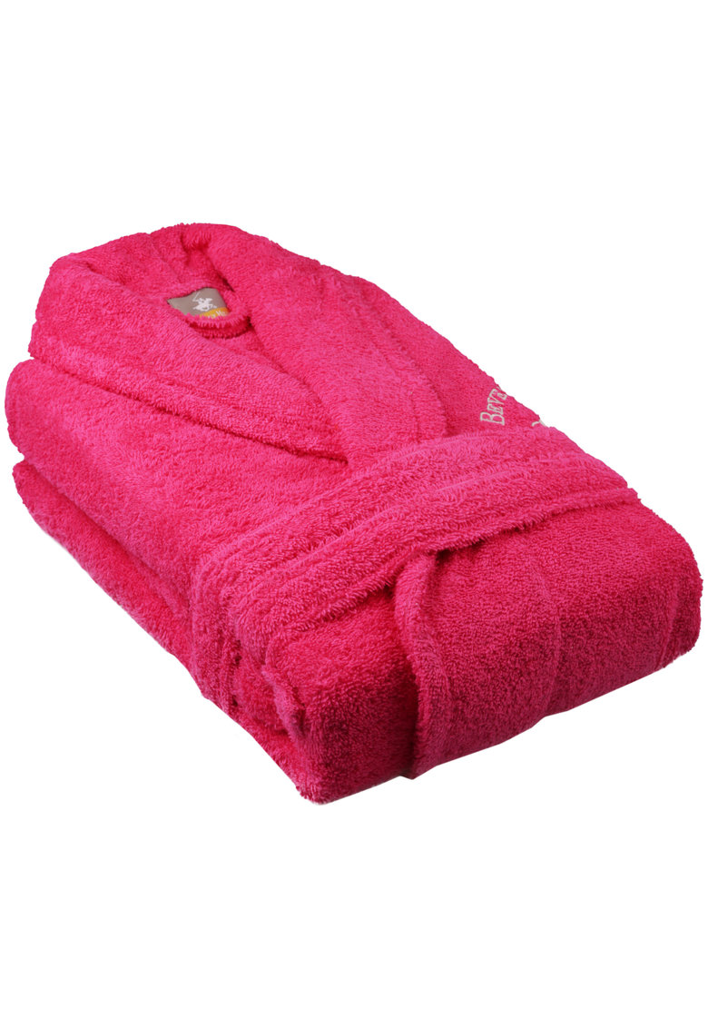 Halat de baie 100% bumbac - L/XL - roz fashiondays.ro