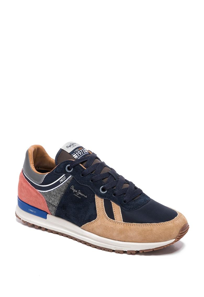 Pantofi sport cu model colorblock si insertii din piele intoarsa Tinker