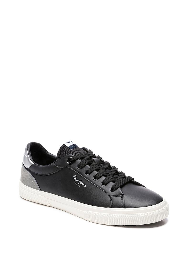 Pantofi sport din piele ecologica cu garnituri din piele intoarsa Kenton