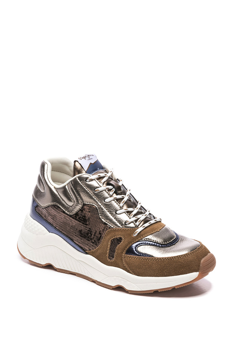 Pantofi sport cu garnituri din piele intoarsa Harlow Space