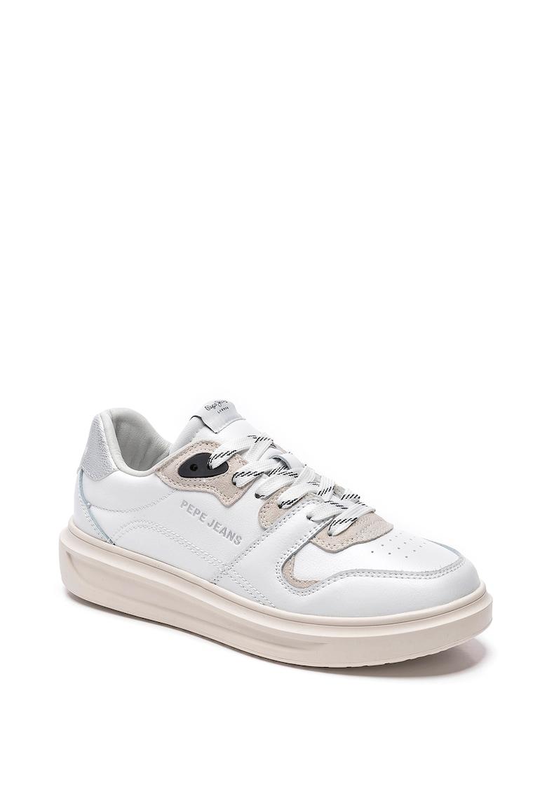 Pantofi sport din piele cu garnituri din piele ecologica Abbey Skate