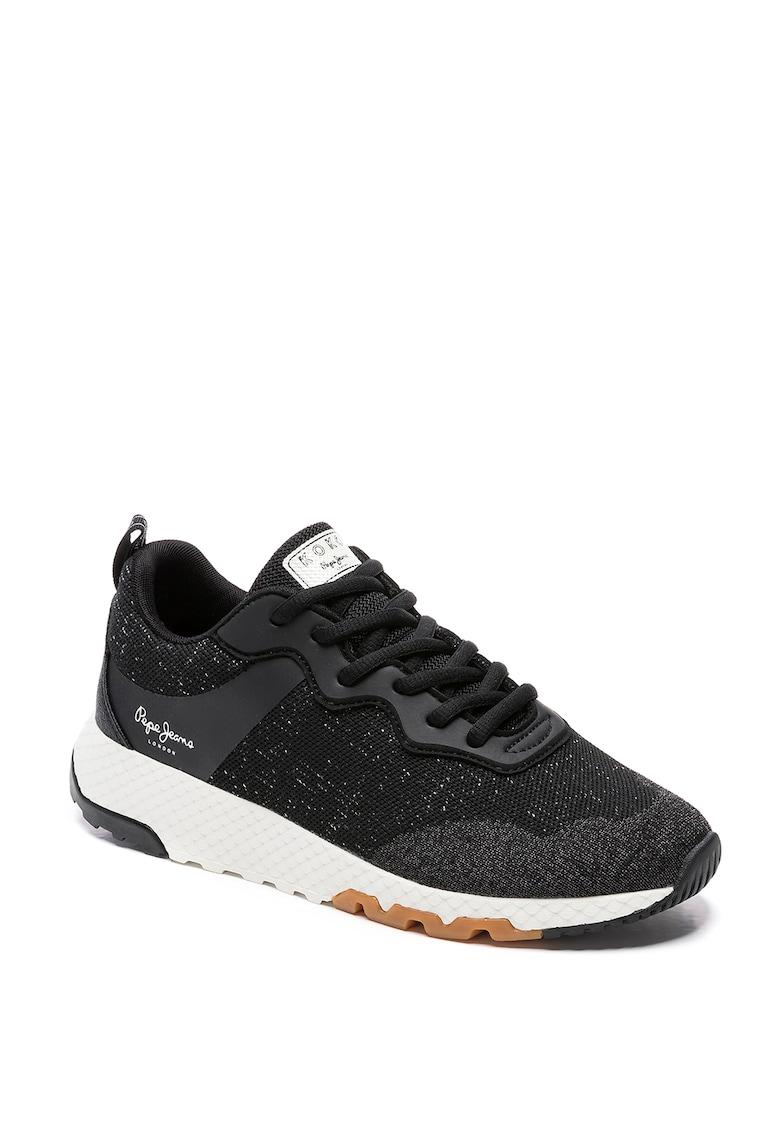 Pantofi sport din material textil cu insertii din piele ecologica Koko