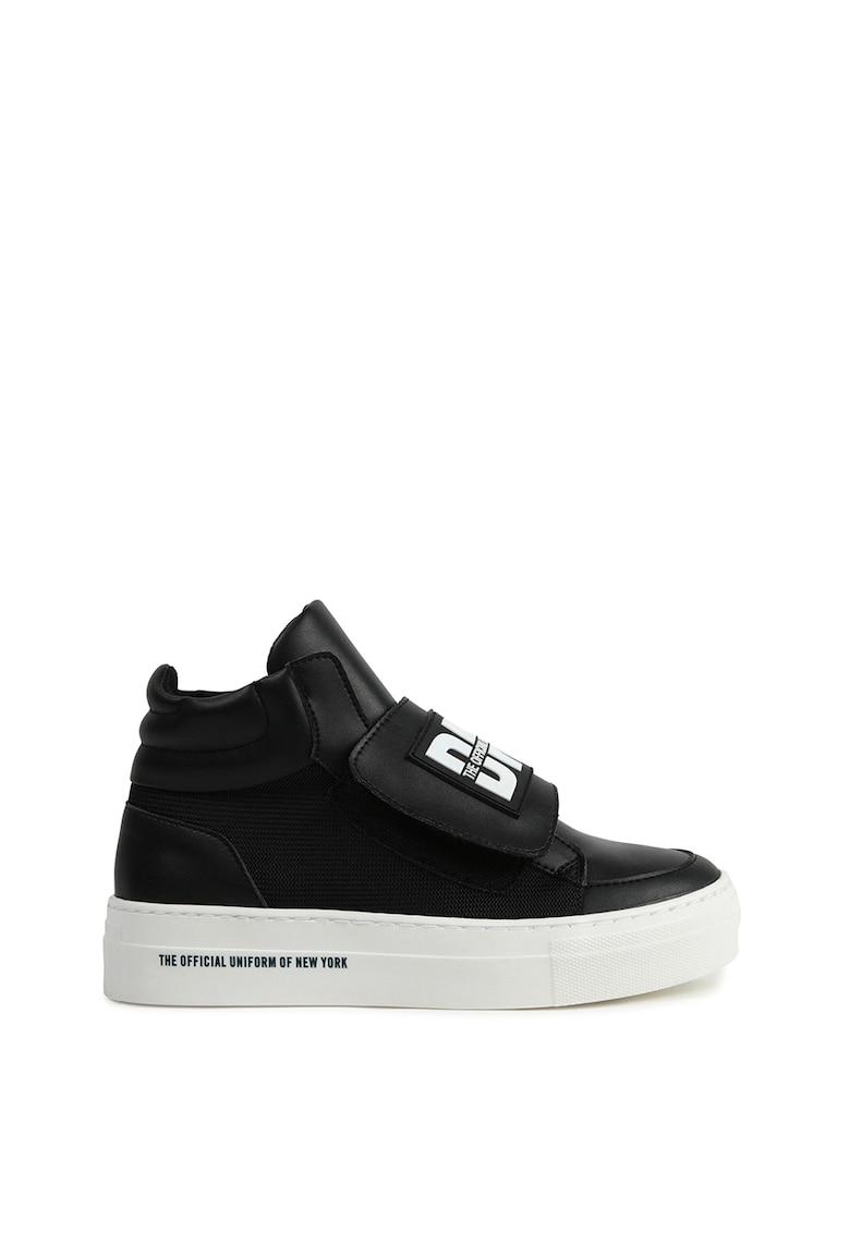 Pantofi sport de piele ecologica - cu velcro