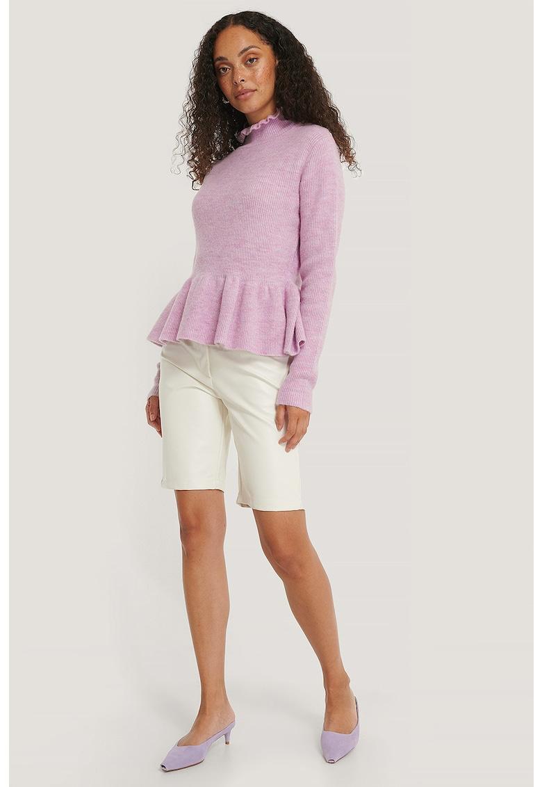 Pulover din amestec de lana - cu peplum