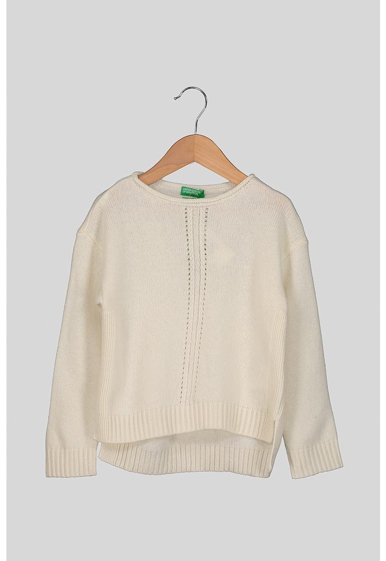 Pulover asimetric din amestec de lana imagine