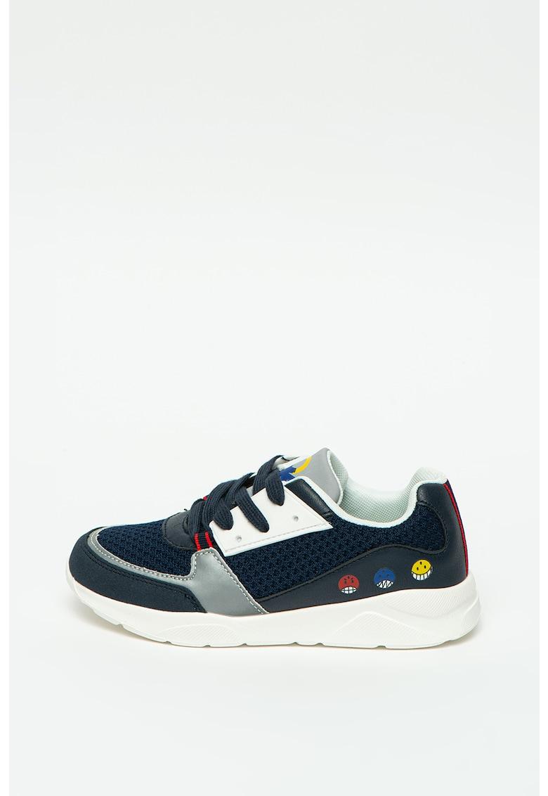 Pantofi sport de plasa cu insertii de piele ecologica
