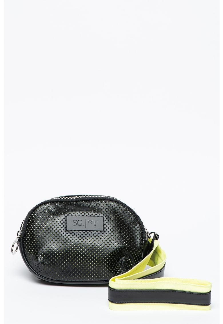 Geanta crossbody de piele ecologica - cu bareta detasabila